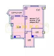 Продам однокомнатную квартиру 38, 7м2 в ЖК Радужный 2